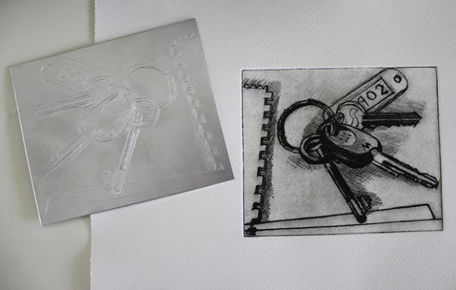 keys &drypoint plate