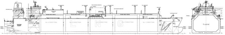LNG Tanker schematics