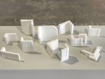 Twelve marble sections from polystyrene