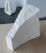 Cast of polystyrene shape, plaster