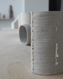 Slip-cast porcelain from dry wall