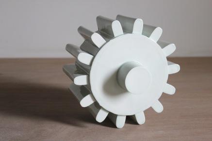 Porcelain cog, celadon glaze